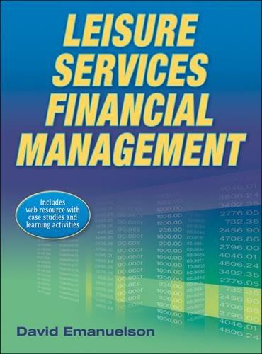 Leisure services financial management