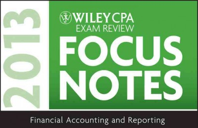 Wiley CPA exam review focus notes.