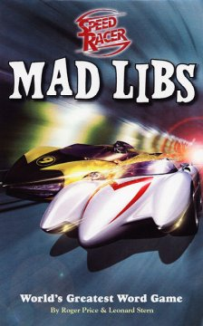 Speed Racer Mad Libs