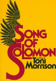 """Yellow background with the title written in Red text. The letter """"S"""" in both """"song"""" and """"Solomon"""" are sprouting black wings."""