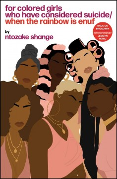 Image of a black woman with her head wrapped in a golden scarf in front of a white background overlaid with a grid. The title is written in loopy, rainbow letters, as if it has been painted on.