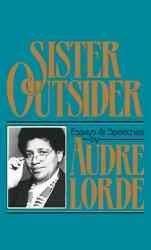 Teal background. The cover features a black and white photo of Audre Lorde.