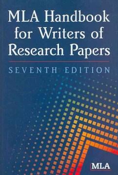 Image of MLA Handbook seventh edition
