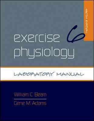 Exercise physiology : laboratory manual /