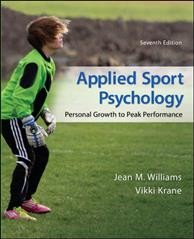 Applied sport psychology : personal growth to peak performance /