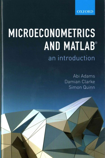 Microeconometrics and MATLAB : an introduction