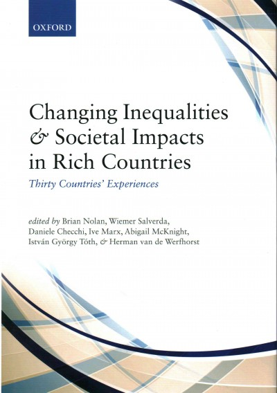 Changing inequalities and societal impacts in rich countries : thirty countries