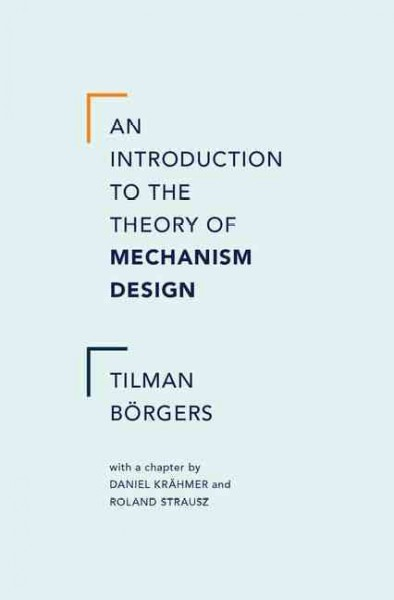 An introduction to the theory of mechanism design