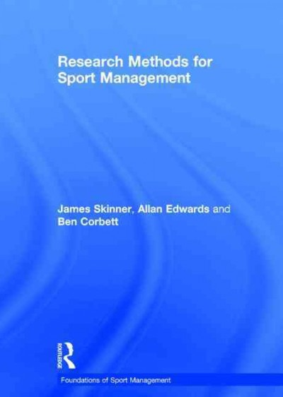 Research methods for sport management /