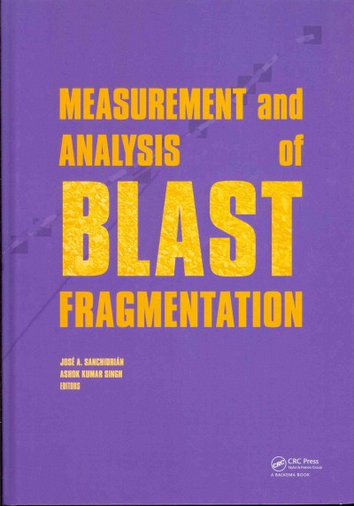 Measurement and analysis of blast fragmentation : : workshop hosted by Fragblast 10 : the 10th International Symposium on Rock Fragmentation by Blasting- New Delhi- India- 24-25 November 2012