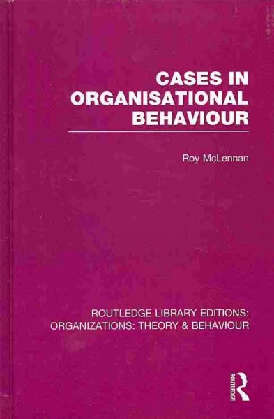 Cases in organisational behaviour /