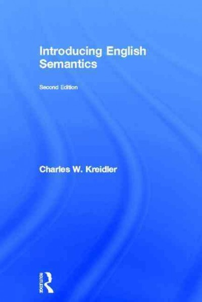 Introducing English semantics /