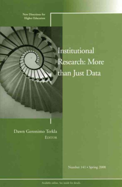 Institutional research : more than just data /