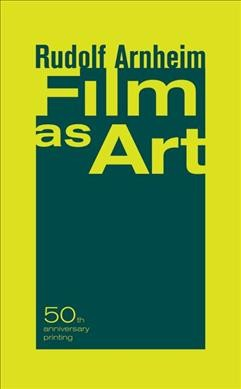 Film as art /
