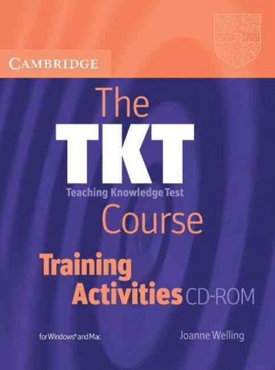 The TKT teaching knowledge test course training activities CD-ROM