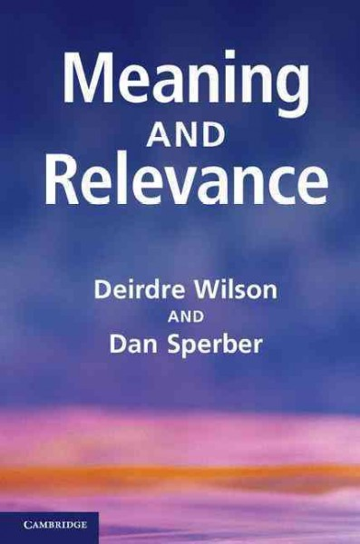 Meaning and relevance /