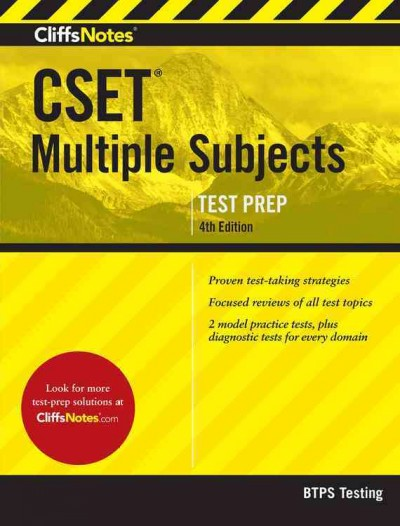 Cliffsnotes Cset Multiple Subjects