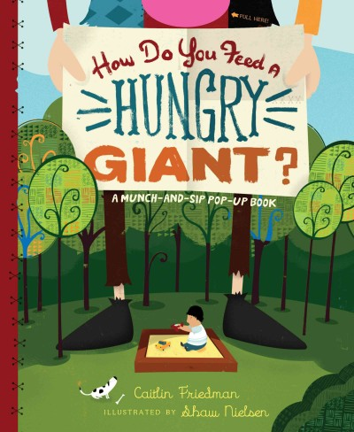 How do you feed a hungry giant? /