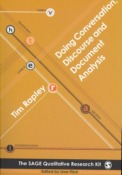Doing conversation, discourse and document analysis /