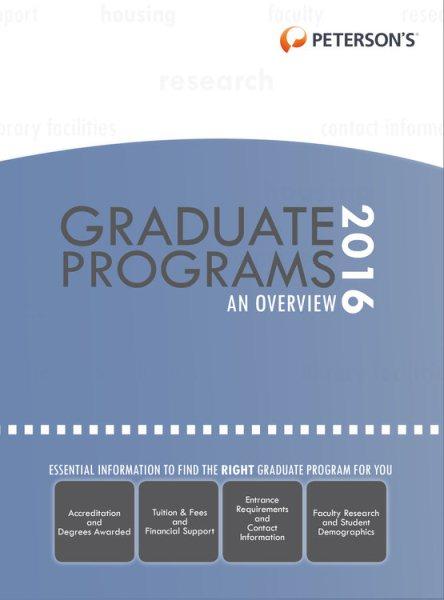Graduate & Professional Programs 2016