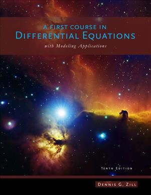 A first course in differential equations with modeling applications /