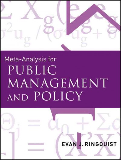 Meta-analysis for public management and policy /