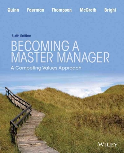Becoming a master manager : a competing values approach /