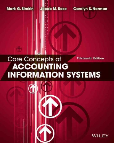 Core concepts of accounting information systems /