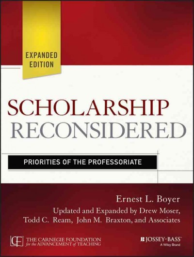Scholarship reconsidered : priorities of the professoriate /