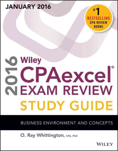 Wiley CPAexcel® exam review study guide January 2016.