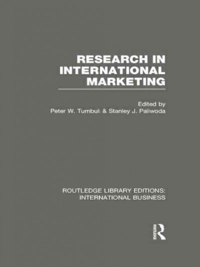 Research in international marketing /