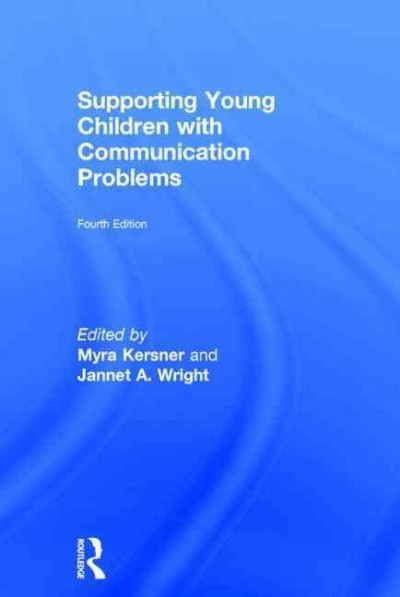 Supporting young children with communication problems /
