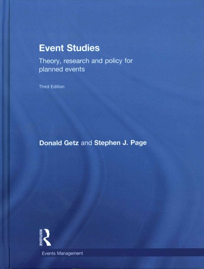 Event studies : theory, research and policy for planned events /