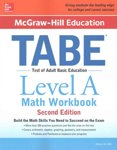 Mcgraw-hill Education Tabe, Level A Math
