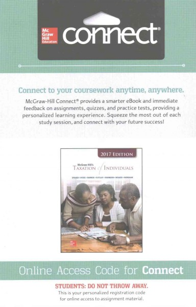 Connect 1- Semester Access Card for Mcgraw-hill's Taxation of Individuals 2017