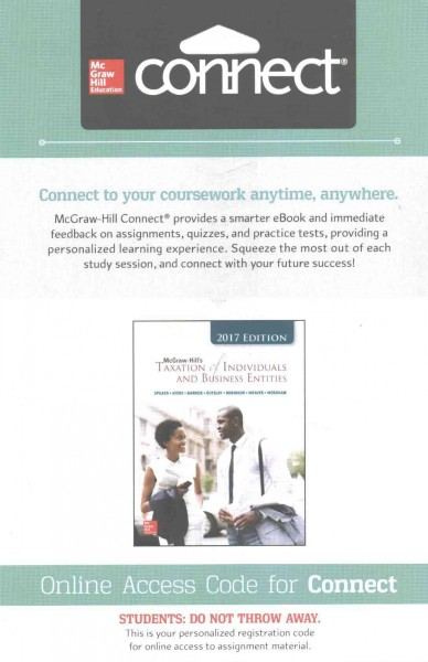 Connect 2-semester Access Card for Mcgraw-hill's Taxation of Individuals and Business Enti