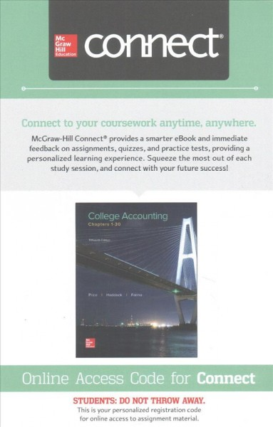 College Accounting Connect Access Card
