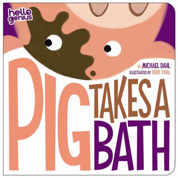 Pig takes a bath