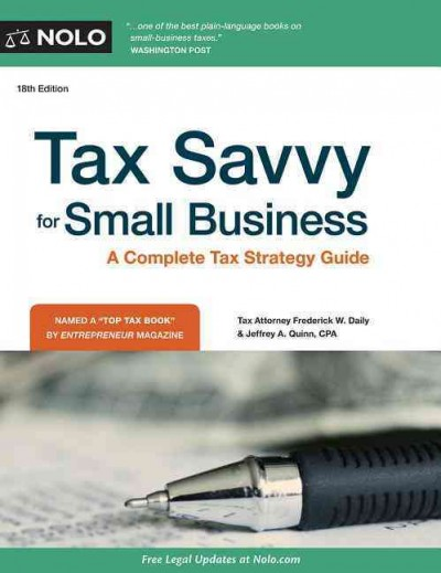 Tax savvy for small business /