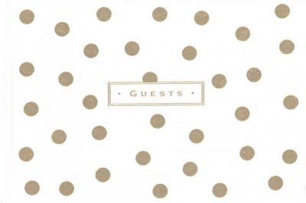 Gold Dots Guest Book