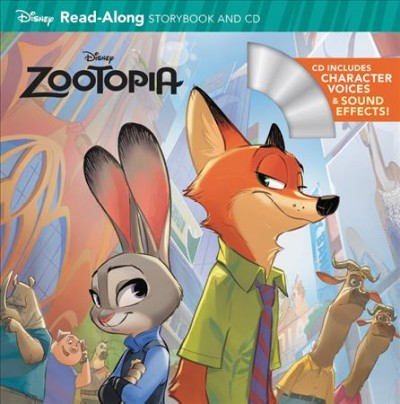 Zootopia:Read-Along Storybook and CD 動物方城市故事書+CD