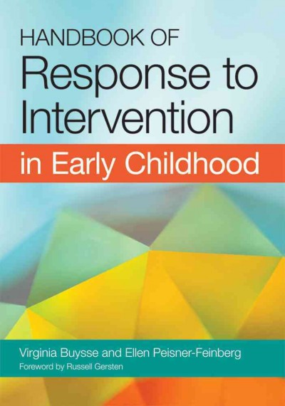 Handbook of response to intervention in early childhood /