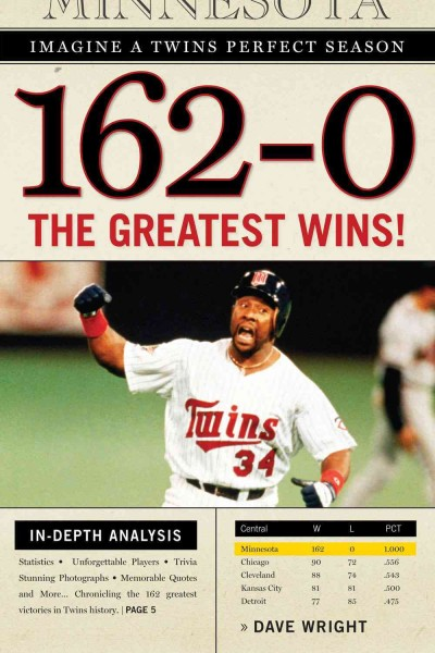 162-0 : imagine a season in which the Twins never lose /
