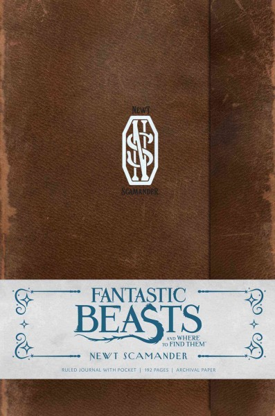 Fantastic Beasts and Where to Find Them:Newt Scamander Hardcover Ruled Journal