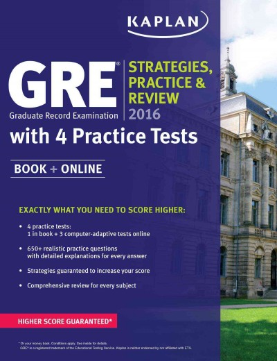 Kaplan Gre Strategies, Practice, and Review 2016
