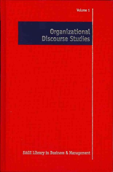 Organizational discourse studies /
