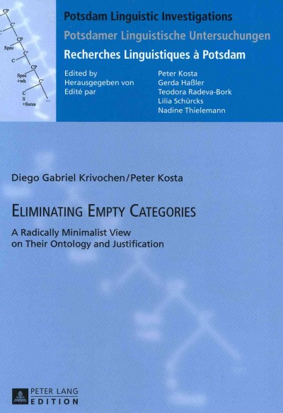 Eliminating empty categories : : a radically minimalist view on their ontology and justification
