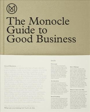 The Monocle guide to good business /