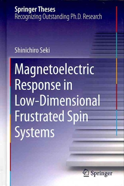 Magnetoelectric response in low-dimensional frustrated spin systems /