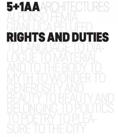 5+1AA architectures- Alfonso Femia- Gianluca Peluffo : : rights and duties